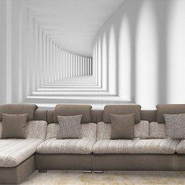 2019 pinturas clássicas anjos Papéis de parede de fundo Home Improvement encomenda da foto 3D Wallpaper abstrata moderna passway Art Mural Sala Sofá
