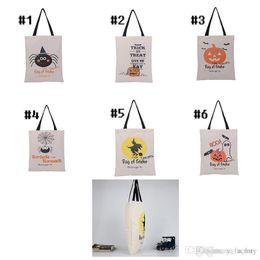 2018 Хэллоуин большой холст сумки хлопок шнурок мешок с тыквой, дьявол, паук, Hallowmas подарки мешок сумки от