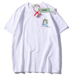 Nouvelle photo de chemises en Ligne-2019 NOUVELLES photos de dessins animés de mode Noir Blanc Rouge Lettre Impression Hommes Femmes Affaires Loisir T-shirt 100% Coton Automne Chemises taille M - XXL
