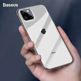 casos baseus iphone Desconto Baseus phone case para iphone 11 pro max coque ultra fino macio tpu silicone tampa traseira para iphone xi xir max 2019 mais novo fundas