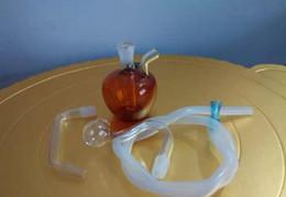 Pequeñas manzanas rojas online-Hookah - Hookah - Apple de vidrio de color pequeño, Enviar accesorios - Little Apple Red Hookah Bongs de vidrio Accesorios, Pipas de vidrio para fumar C 145