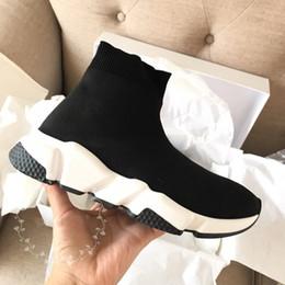 Tricotant des chaussettes pour hommes en Ligne-Nouveau Paris Speed Tricot Chaussette Chaussures De Luxe Robe De Soirée Designer Baskets Mode Hommes Femmes Casual Chaussures Top Qualité