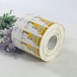 Rouleau de papier personnalisé paquet étiquette adhésive vernis brillant couleur impression logo étiquette autocollant ? partir de fabricateur