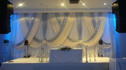 Parlak gümüş swags Düğün perdeler Sahne dekorasyonu 79 ile 10 ft x 20ft Beyaz Düğün Arka Plan nereden