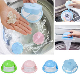 machine flottante Promotion Laundry Machine Wool Filtering Hair Removal Flower Shape Ball Durable Removable Mesh Filter Bag Cleaning Floating Washing Ball HH7-2054