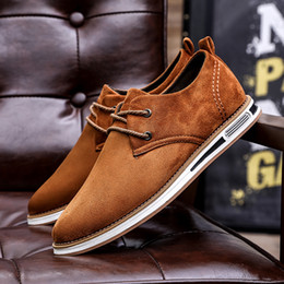 2019 sapatos confortáveis para homens Mans Sapatos Casuais Primavera Outono Dos Homens de Negócios Barco Sapatos Mocassins Vestido Sneakers Nubuck Confortável Andando Calçado Plano sapatos confortáveis para homens barato