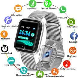 2019 умные часы стали водонепроницаемыми WISHDOIT Мода Из Нержавеющей Стали Спорт Смарт-Часы Водонепроницаемый Шагомер Часы Монитор сердечного ритма LED Цветной Экран Android ios дешево умные часы стали водонепроницаемыми
