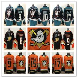8653c3c3d 15 Ryan Getzlaf Jersey Anaheim Ducks 17 Ryan Kesler 10 Corey Perry 9 Paul  Kariya Black Hockey Jerseys High Quality Free Shipping