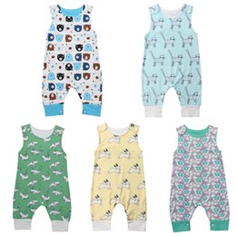 a6519d5502d girls summer arrivals jumpsuits Australia - New Arrival Cute Newborn Kid  Baby Girl Boy Animal print