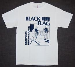 2019 schwarze flagge punk Schwarze Fahne nervöser Zusammenbruch-neues Mann-T-Shirt Punkfelsen Lustige freie Verschiffen Unisext-shirtoberseite günstig schwarze flagge punk