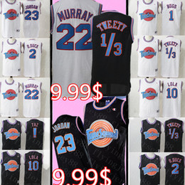 Bugs bunny basquete on-line-2020 Space Jam LeBron James 23 Jersey Filme 23 Michael 1 Bugs Bunny! Taz 13 Tweety 22 Bill Murray 10 lola 2 D.DUCK basquetebol Equipamentos