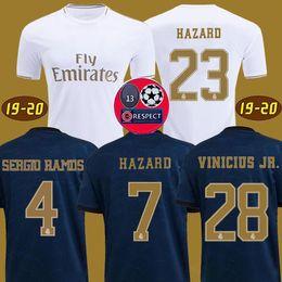 Camisas De Futebol Real Madrid 19 20 HAZARD JOVIC MILITAO camisa de futebol 2019 2020 VINICIUS ASENSIO camisa de futebol kids camisa de futebol de