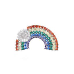 Moda Mini Gökkuşağı Zarif Elmas kakma Giysiler, High-end Broş Pins ve Takı Toptan supplier wholesale high end fashion jewelry nereden toptan yüksek son moda takı tedarikçiler