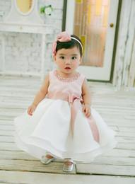 2019 traje de ceremonia Nicoevaropa Vestido de bautizo para niña pequeña Disfraces de navidad Vestido de niña bebé Perlas Ropa linda para bebés Robe Noel Ceremonie Fille rebajas traje de ceremonia