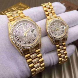 top luxury watch brands for women Promo Codes - 6 Colour Luxury watches for mens 18K Gold strap Brands diamonds Men 36MM Women 26MM Top quality ladies Automatic mechanical watch small dial
