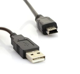 Mp3 кабель для передачи данных онлайн-Мини 5-контактный мини USB кабель зарядное устройство шнур для PS3 контроллер КПК MP3 сотовый телефон камеры разъем данных
