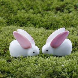 Resine pasquali online-Happy Easter Eggs Decor Coniglio Carino Bunny Ornamento Mini Resina Garden Decorazioni di Pasqua per la casa Dropship wielkanoc