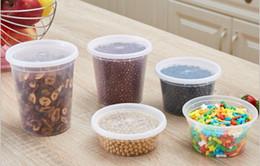 caja desechable de contenedores de almuerzo Rebajas Desechable sopa de caja de los pp de plástico caja de almacenamiento de usos múltiples MOQ 480pieces para ir envase de alimento cuadro