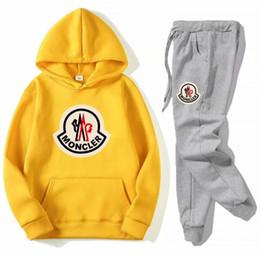 Cappuccio yoga online-Designer emboitement lettera stampa uomo donna tuta sportiva giacca sportiva giacca con cappuccio felpa pantaloni tuta con cappuccio + pant set felpa