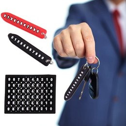 mercedes car schlüsselersatz Rabatt Anti-verlorene Telefonnummer-Platten-Auto Keychain hängende Selbstfahrzeug-Telefonnummer-Karten-Schlüsselring-Schlüsselkette-Auto-Innendekoration