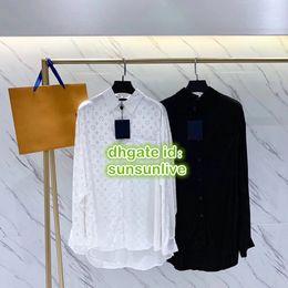 Mädchen lange lose t-shirts online-Frauen Brief Drucken Shirt Bluse Feminine High End Freizeithemden Bluse Mädchen Übergröße Kurze Runway Tops Langarm Lose T-Shirt SML