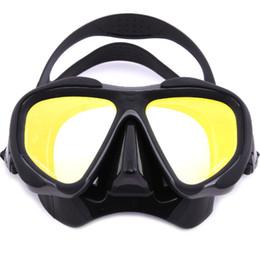 2019 immersioni subacquee Scuba Swimming Diving Mask Glasses Anti-Fog Color Mirror Silicone Diving Maschere Nuoto Pesca Pool Attrezzature Sport acquatici immersioni subacquee economici