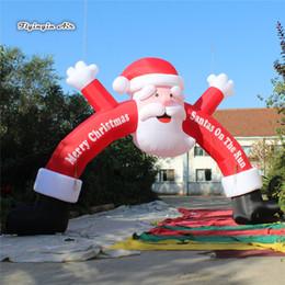 Giriş Dekorasyon için Açık Noel Dekoratif Şişme Santa Arch 6m / 8m / 10m Merry Christmas Kapı ile Özel Baskı nereden