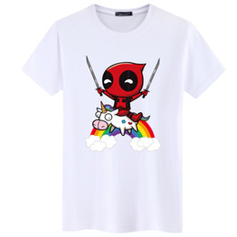 Argentina Swenearo Summer Newest Deadpool Men T Shirt Funny Tops Venta al por mayor Descuento Lovely Tee Shirt Homme Hip Hop Tee Ropa para Marvel Fans camiseta cheap lovely wholesale clothes Suministro