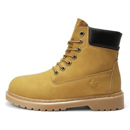 2018 Hot New Spring Autumn Women Ankle Boots Yellow Color Fashion Lace Up  Boots High Quality Martin Girls 35-40 877a44d5cd8f