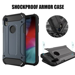 Carcasa a prueba de golpes Hybrid Armor para iPhone X XR XS MAX 7 8 Plus Samsung Note 9 S9 Plus Moto E5 Play G6 Plus desde fabricantes