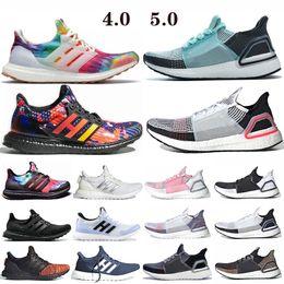 Buenas zapatillas para correr online-Ultra Boost 4.0 zapatillas de deporte Ultraboost 19 zapatillas Blanco Walker Hombres Mujeres Woodstock Época de lluvia CNY Niza retrocesos de Ultra Aumenta La Formadores
