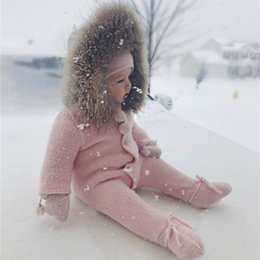 Baby, der spielanzug trägt online-Neugeborenes Baby Tragen Winter Overall Schneeanzug Baby Warme Strampler Baumwolle Mädchen Kleidung Kindermantel Kleinkind Kleidung