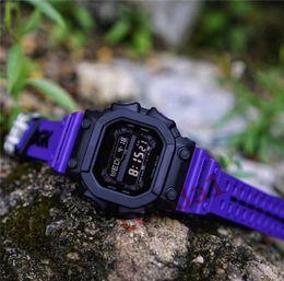neue ankunft führte uhr Rabatt 2019 männlichen Shock Style Digital Square Uhren Großhandel Herren Sport G Style Armbanduhren Neue Ankunft Outdoor LED Sportuhr Uhr für Mann