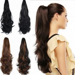 длинные кудрявые волосы кусок хвостик Скидка Кудрявые хвостики клип длинные волнистые хвостик наращивание волос хвостик конский хвост кусок волос многоцветное высокотемпературное волокно