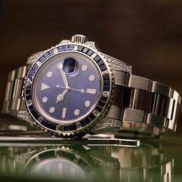 relógios a quartzo Desconto Homens Mulheres Relógios De Diamante Senhora Menina Designer De Festa De Strass Assista Homens 2813 Aço Inoxidável Mecânico Automático Auto-vento Azul Relógio De Pulso