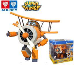 diseño de caja de niños Rebajas AULDEY Súper Alas Niños Robot Jett mareado Bello Figuras Animación Infantil marca con 23 diseños juguetes robot con la caja original 3T hasta 04