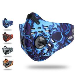 2019 sciarpe belle all'ingrosso Uomini / donne di alta qualità carbone attivo a prova di polvere in bicicletta mezza maschera anti-inquinamento bicicletta bicicletta outdoor formazione maschera faccia scudo