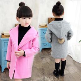 chaquetas de lana para niños Rebajas Ropa de las muchachas de moda 2018 engrosamiento chaqueta de lana prendas de abrigo niños del invierno largo cálido gabardina niños sobretodo chaquetas