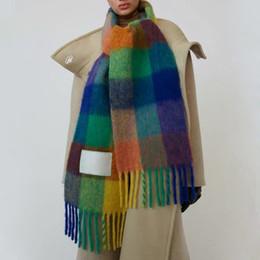 Melhor 19FW Quente lenço de lã Moda Canads lenço feito malha mulheres homens unisex Inverno Acessórios Festival colorido presente HFLSWJ010 de Fornecedores de relógio de quartzo quadrado
