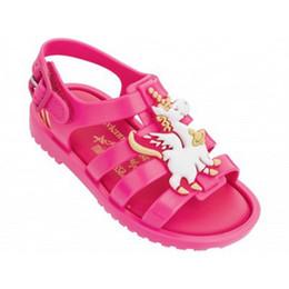 Детские босоножки онлайн-Unicorn детская обувь обувь для девочек детские сандалии для девочек Summer Jelly Sandals детская обувь Vintage детские пляжные сандалии A5666