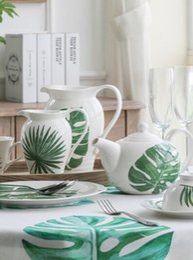 Conjuntos de quarto chinês on-line-Louça conjunto bule de cerâmica casa dom estilo nórdico prato chinês