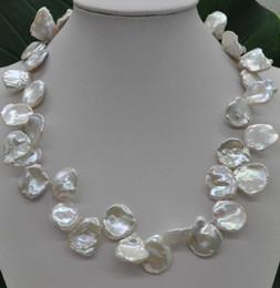 Perle di keshi naturali online-Collana di perle coltivate naturali rare rare 16 * 17mm Keshi