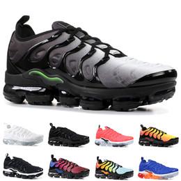 Nike Air Vapormax Tn Plus 2019 Zapatillas de running para hombre Mujer Hyper Blue Violet Multi Color Cool Grey Triple Blanco Negro Trainer Sneakers deportivos Venta online desde fabricantes