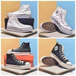 Sapatos para mulheres on-line-Nova Converse All Star Oi Sapatos de Plataforma de Elevação Das Mulheres Meninas Moda Designer De Luxo Tênis Casuais Chuck Branco Preto Marca de Skate