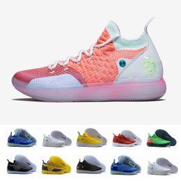 437fa3335e98 2019 neue Ankunft KD 11 EP 10 EYBL Multicolor Eisblau Sport Männer  Basketball Schuhe 11s Mens Kevin Durant Trainer Designer Turnschuhe 7-12 günstige  kevin ...