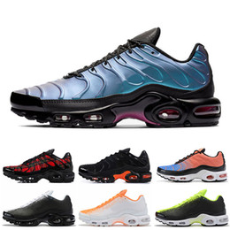 Bg schuhe online-NIKE AIR MAX PLUS TN SE tn Plus BG Ultra Herren Laufschuhe Throwback Future TARTAN Triple Schwarz TOTAL CRIMSON TN Herren Schuhe Sneakers