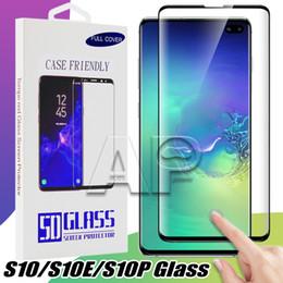 Vetro temperato curvo 3D amichevole per Samsung Galaxy S10 S9 Note 9 10 S8 Plus note8 Pellicola protettiva per schermo con confezione al dettaglio cheap film retail da film retail fornitori