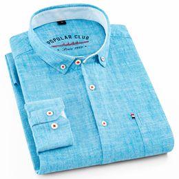 Новый запуск хлопка льняные рубашки с длинным рукавом рубашки мужские чистые цветные повседневная мужская одежда 2018 camisa masculina мужские рубашки # 435111 supplier pure linen clothing от Поставщики одежда из чистого льна