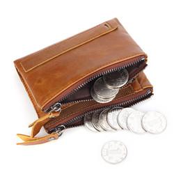90756cf20 billeteras pequeñas hechas a mano Rebajas Verdadero cuero genuino hombres cartera  monedero corto pequeñas carteras de