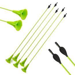 Colpo di tazza set online-Tiro con l'arco Bambini Sucker Arrow per bambini Ventosa sicura Ventole frecce Outdoor Pratica Target di tiro per frecce arco ricurvo composte Set